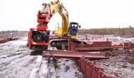 Шпунт СШК на объекте Транснефть-Сибирь